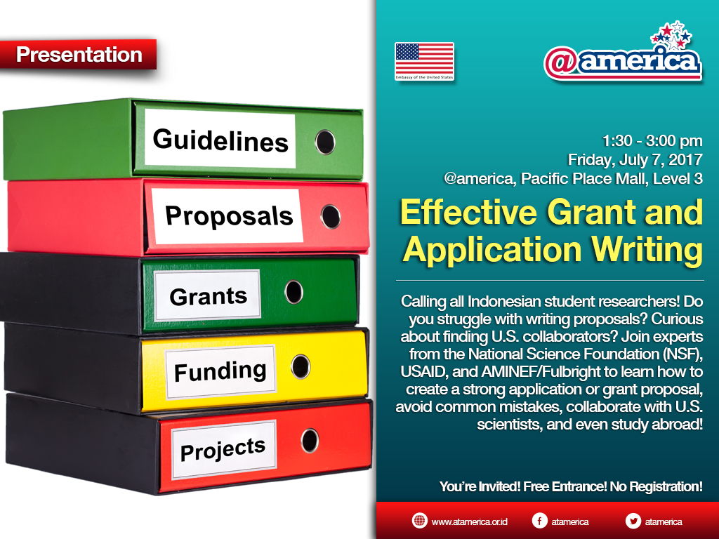 7 July - Effective Grant and Application Writing