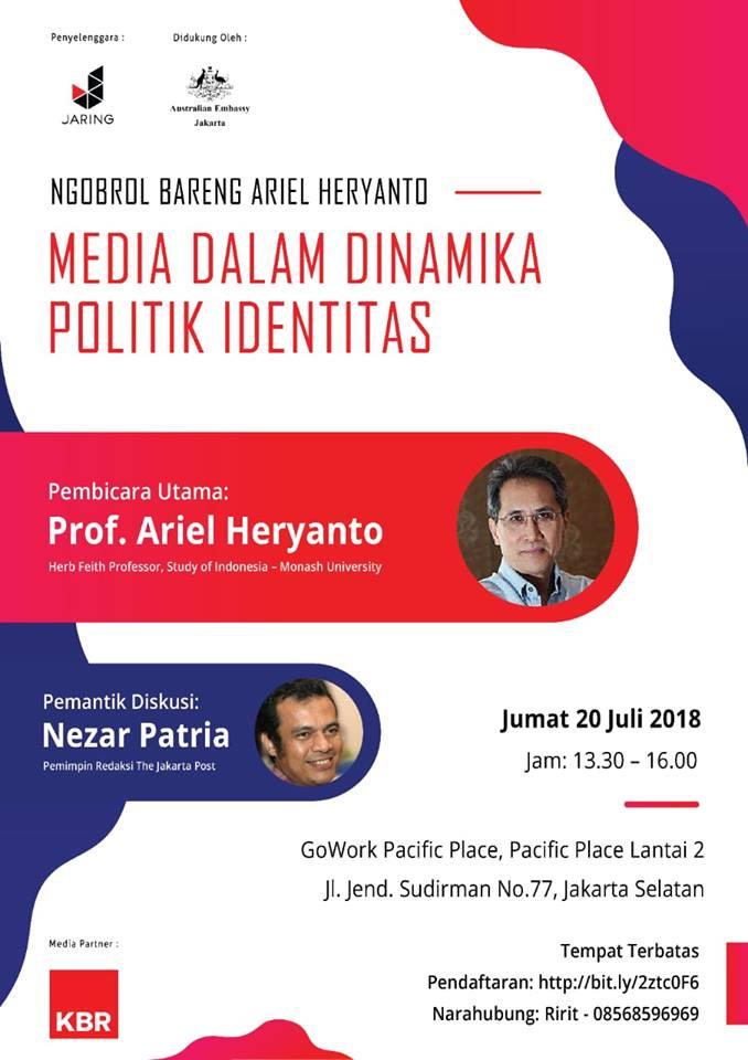 Ariel Heryanto event 20 Juli, 2018