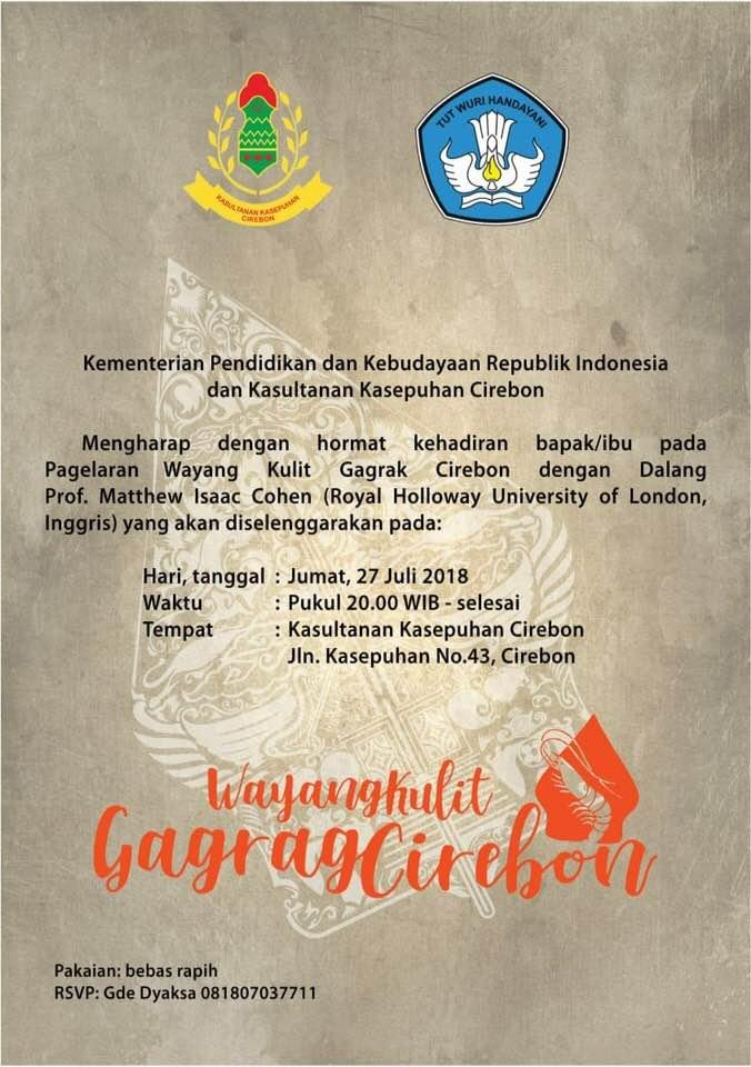US Fulbrighter alum Matthew Isaac Cohen event Cirebon July 27