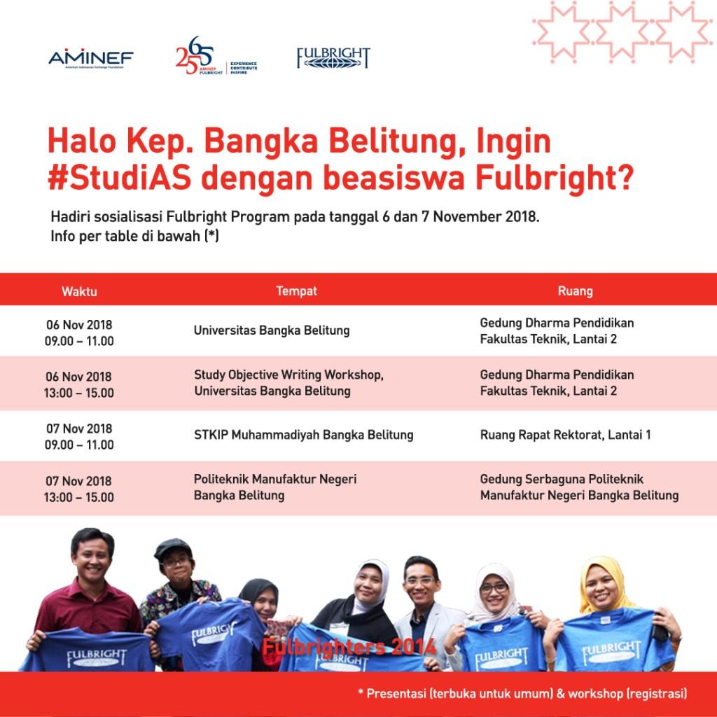 Outreach kep Bangka Belitung 6 & 7 nov