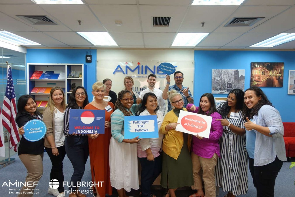 American Fulbright TGC 2019 Fellows Visited AMINEF Office