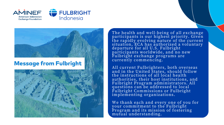 Message from Fulbright