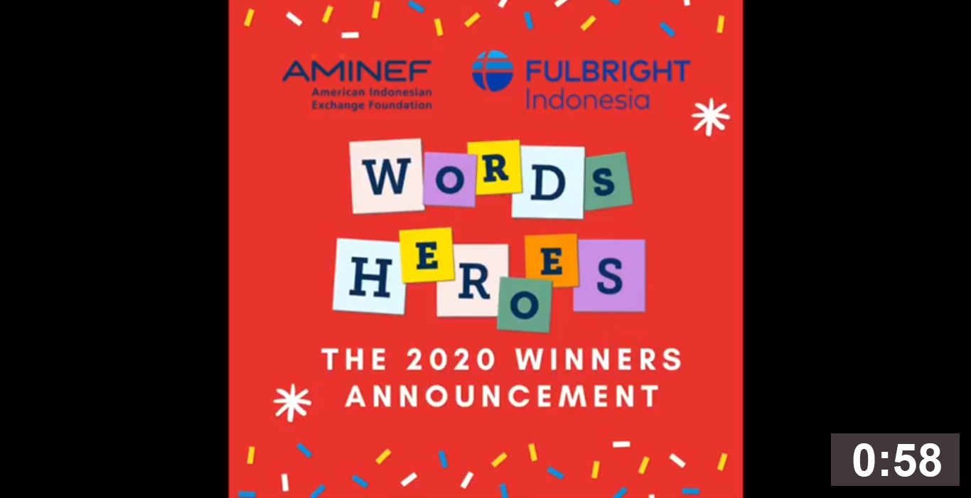 Congratulations to the three winners of the 2020 Fulbright ETA National WORDS Competition. 